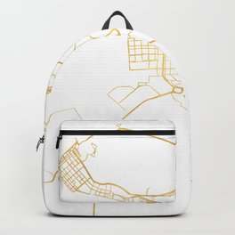 ABU DHABI UNITED ARAB EMIRATES CITY STREET MAP ART Backpack