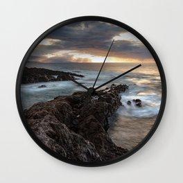 Long Exposure Sunset in El Sauzal Wall Clock
