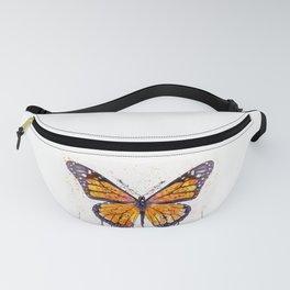 Monarch Butterfly watercolor Fanny Pack