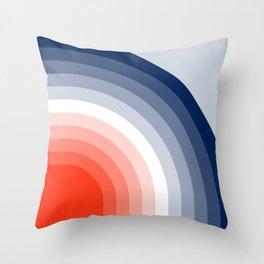 70s Stripes Rainbow Throw Pillow