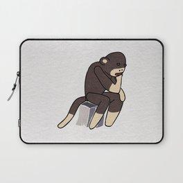Sock Monkey Thinking Laptop Sleeve