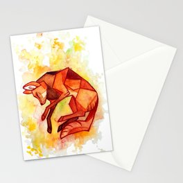 Angular maned wolf watercolor painting Stationery Cards