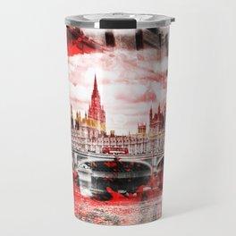 City-Art LONDON Red Bus Composing Travel Mug