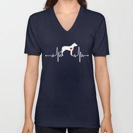 Dogo Argentino Mastiff heartbeat Unisex V-Neck