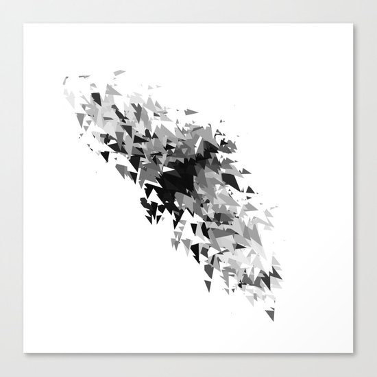 Triangles flow Canvas Print