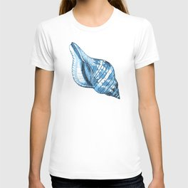 Shell coastal ocean blue watercolor T-shirt