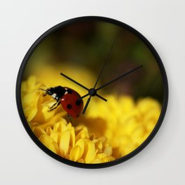 Ladybug on Mum Wall Clock