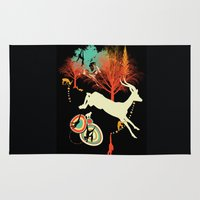 african Area & Throw Rugs featuring African Life by Dimitra Tzanos