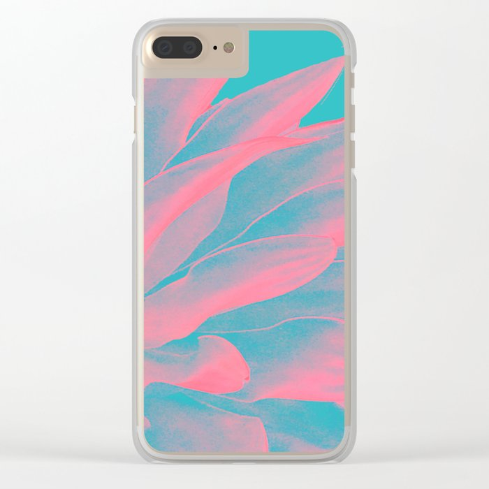 Abstract leaves Clear iPhone Case