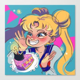Moon Girl Party Canvas Print