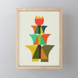 Whimsical bromeliad Framed Mini Art Print