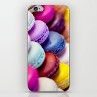 macaron iPhone & iPod Skins featuring Macaron by Electric Avenue