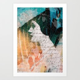 Lady Remixed Art Print