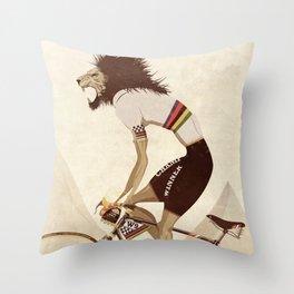 Vintage World Champion Bicycle, Bike, Bikes, Cycling Tour De France Throw Pillow