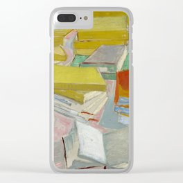 Van Gogh - Piles of French Novels, 1887 Clear iPhone Case