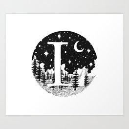 Midnight L Art Print