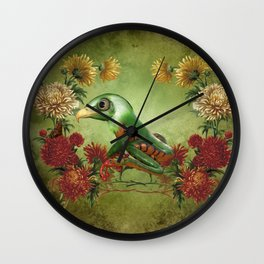 Awesome funny frogeagle Wall Clock