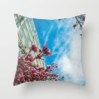 dc Throw Pillows featuring DC Blooms! by Ashley Hirst Photography