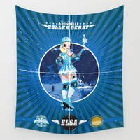 elsa Wall Tapestries featuring Elsa by Spicy Monocle
