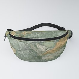 Leaves in Ice Fanny Pack