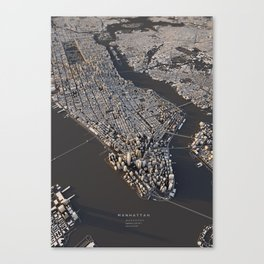 Manhattan - city map Canvas Print