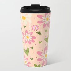 Faye's Flowers Metal Travel Mug