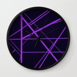 Crossroads - Purple Wall Clock