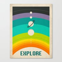 solar system Canvas Prints featuring SOLAR SYSTEM by Jazzberry Blue
