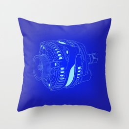 Blueprint: Alternator Throw Pillow