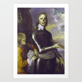Zombie Oliver Cromwell Art Print
