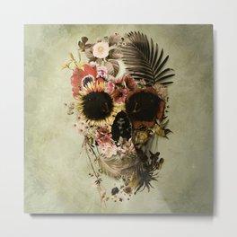 Garden Skull Light Metal Print