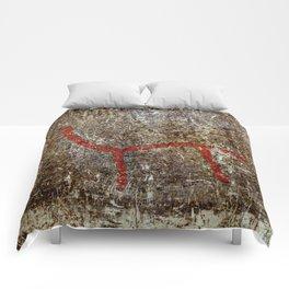 Pictogram at Vitlycke, Sweden 5 Comforters
