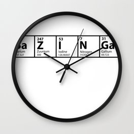 Bazinga Periodical Wall Clock