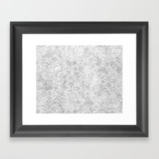 White Lace Framed Art Print
