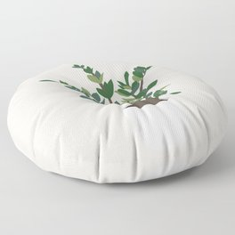 Minimal Art - Indoor Plant, ZZ Plant Floor Pillow