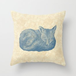 Foxes at Rest Throw Pillow