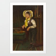 John George Brown(American, 1831-1913)Dress Up Art Print