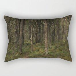 Landscape view of taiga forest Rectangular Pillow