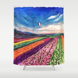 Carlsbad Flower Fields Shower Curtain