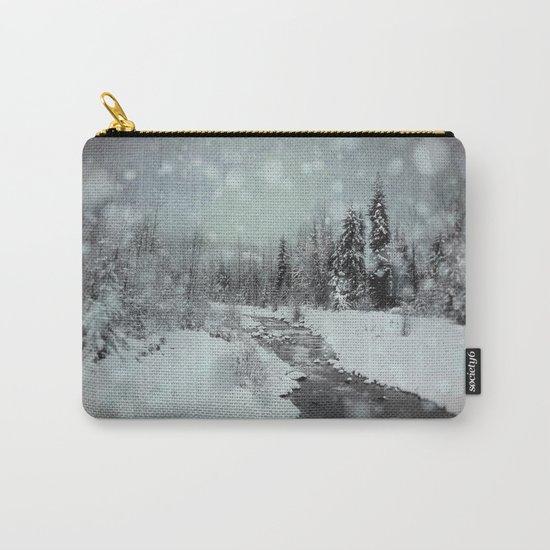 Blue Winter Landscape Carry-All Pouch