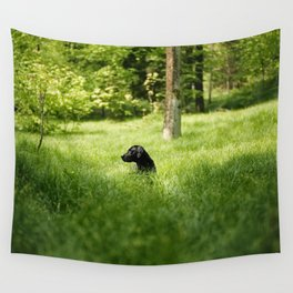 Into the green Wall Tapestry