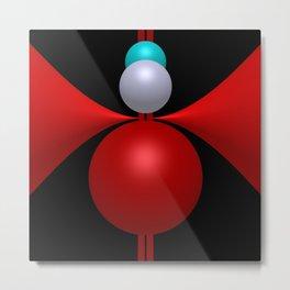 3 colors, 3 dimensions Metal Print