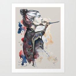 seehorse by carographic Art Print