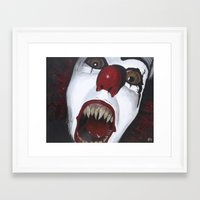 pennywise Framed Art Prints featuring Pennywise by Kristen Champion