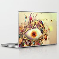 third eye Laptop & iPad Skins featuring Third Eye by Igor Šćekić