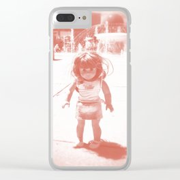 Hello (red) Clear iPhone Case