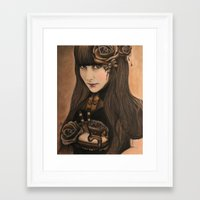 chocolate Framed Art Prints featuring Chocolate by Sheena Pike ART