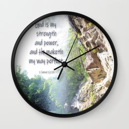 God is my strength Wall Clock