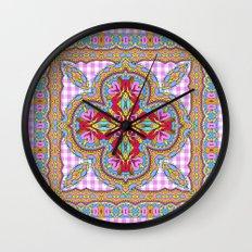 Mix&Match;  Pretty Pink Mandala Meditation pillow 01 Wall Clock