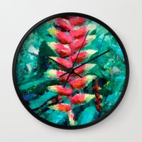 flower of life Wall Clocks featuring Life by Antonio Jader